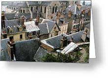Rooftops Of Blois In France 3 Greeting Card