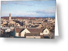 Rooftops Of Elgin Greeting Card