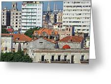 Rooftops Of Old Town Havana Greeting Card