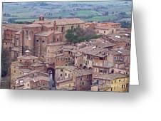Rooftops Of Siena 2 Greeting Card