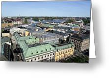 Rooftops Of Stockholm Greeting Card