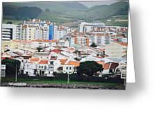 Rooftops Of Ponta Delgada Greeting Card
