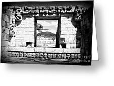 Room With A View Black And White Greeting Card