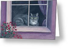 Room With A View Greeting Card by Kathryn Riley Parker