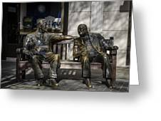 Roosevelt And Churchill Statue Greeting Card