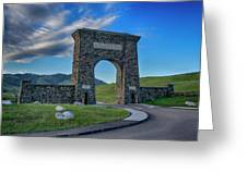 Roosevelt Arch At Yellowstone Dsc2522_05252018 Greeting Card