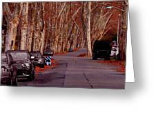 Roosevelt Avenue Red Greeting Card