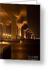 Roosevelt Bridge At Night Greeting Card