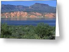 Roosevelt Lake - Panoramic Greeting Card