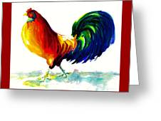 Rooster - Big Napoleon Greeting Card