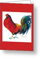Rooster - Little Napoleon Greeting Card