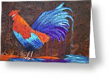 Rooster Painting Greeting Card