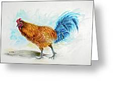 Rooster Watercolor Greeting Card