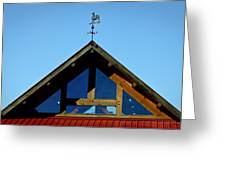 Rooster Weather Vane Greeting Card