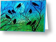 Roosting Birds Greeting Card