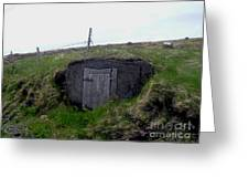 Root Cellar Near A Road Greeting Card