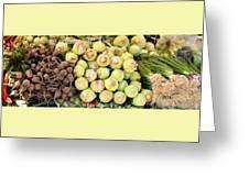 Root Display At Farmers Market Greeting Card