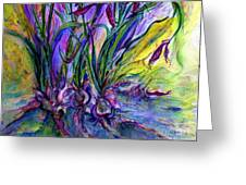 Roots In Blue Greeting Card