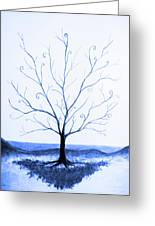 Roots Of A Tree In Blue Greeting Card