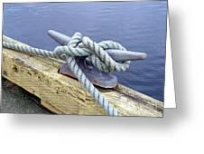 Rope And Bollard Greeting Card