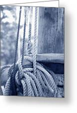 Rope And Mast Greeting Card