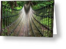 Rope Bridge Greeting Card