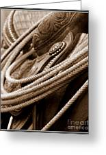 Rope N Saddle Greeting Card