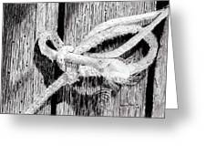 Rope On A Fence Greeting Card