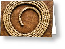 Rope On Leather Greeting Card