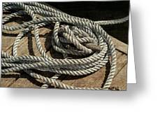 Rope On The Dock Greeting Card