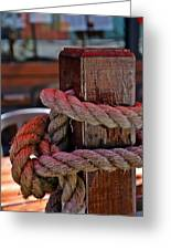Rope On Wood Greeting Card