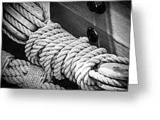 Ropes And Pulleys Greeting Card