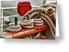 Ropes Of A Sailboat Greeting Card