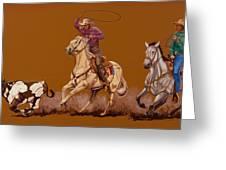 Ropin Pardners Greeting Card