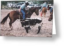 Roping Event 1 Greeting Card