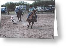Roping Event 4 Greeting Card