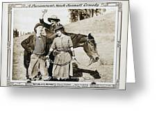 Roping Her Romeo 1919 Greeting Card