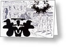 Rorschach 3 Angel Of Death Greeting Card