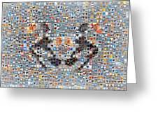 Rorschach Inkblot Card Three Greeting Card