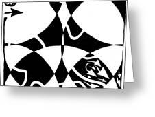 Rorschach Maze Greeting Card