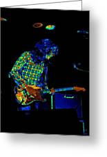 Saturated Blues Rock Greeting Card