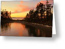 Rosario Beach Sunset Greeting Card