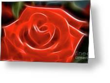 Rose-5856-fractal Greeting Card