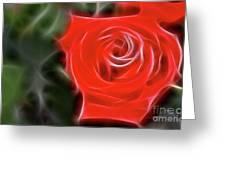 Rose-5890-fractal Greeting Card