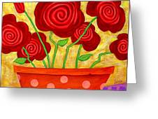 Rose-a-go-go Greeting Card