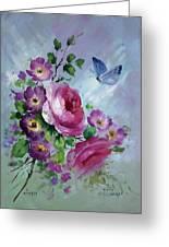 Rose And Butterfly Greeting Card