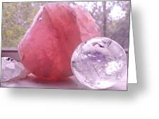 Rose And Clear Quartz 1 Greeting Card