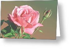 Rose And Two Buds Greeting Card