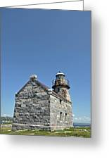 Rose Blanche Lighthouse II Greeting Card