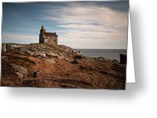 Rose Blanche Lighthouse Greeting Card